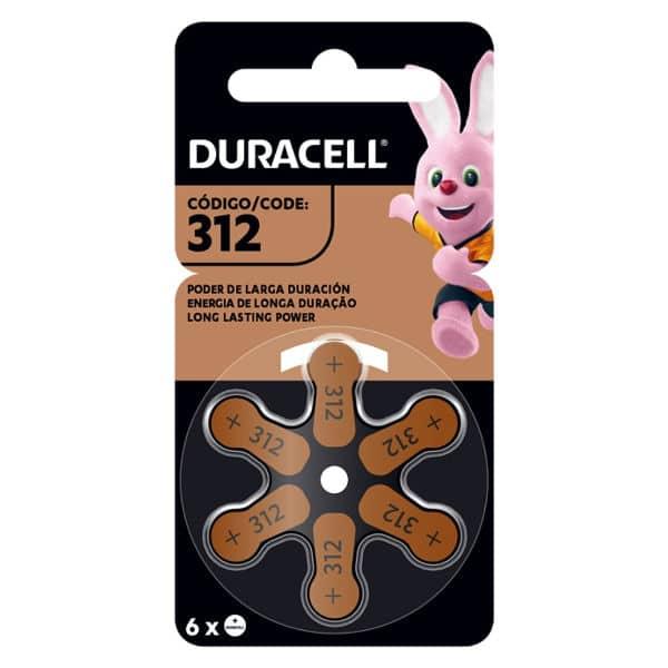 blister de pilas para audifonos 312 color marron de 6 unidades