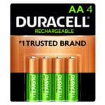 pack de 4 pilas recargables duracell AA