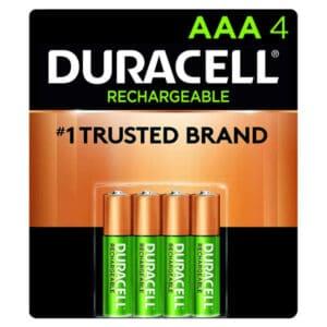 pilas recargable duracell aaa paquete de 4 unidades