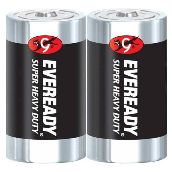 pilas d eveready negra de carbon
