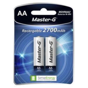 pack de pilas recargables master-g de dos unidades