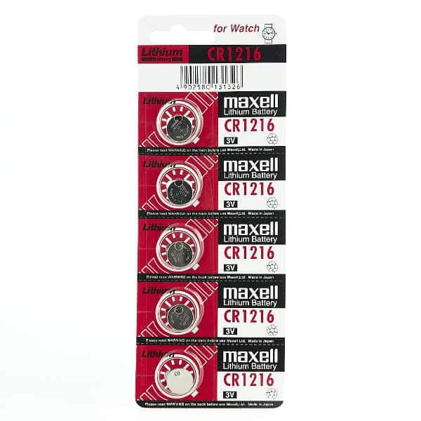 blister de maxell cr1216 5 unidades