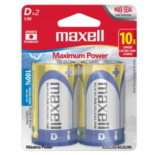 pilas maxell 2 unidades