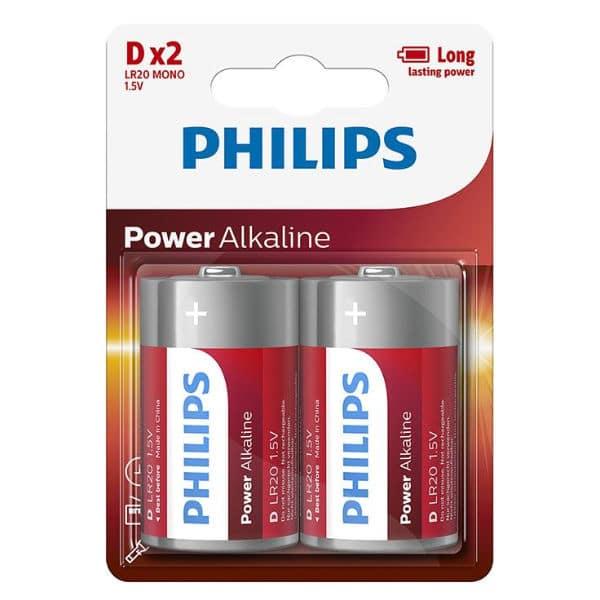 blister de pilas philips de 2 unidades D/LR20