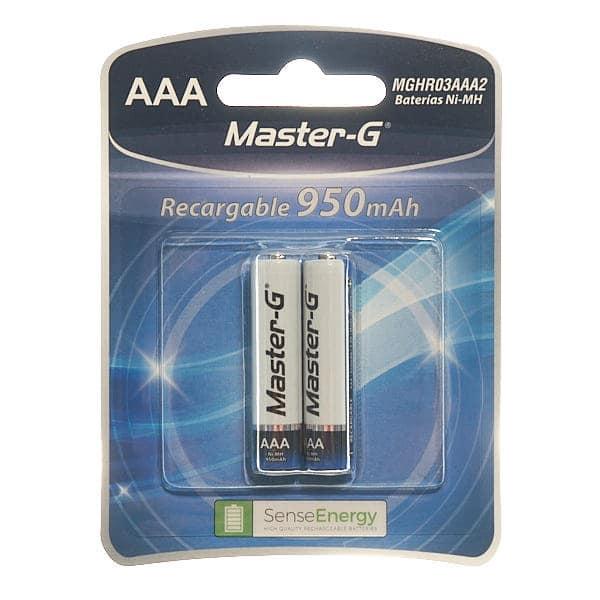 blister de 2 unidades de pilas master-g recargables