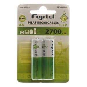blister de 2 unidades de pilas doble a recargable fujitel