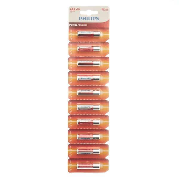 blister de 10 unidades philips aaa
