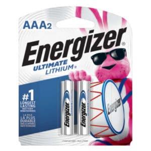 blister de 2 unidades de pila aaa energizer