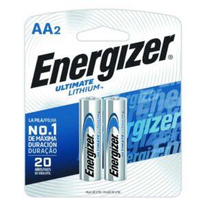 blister de 2 unidades de pila energizer de litio AA