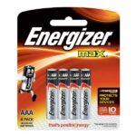 blister energizer de 4 unidades aaa