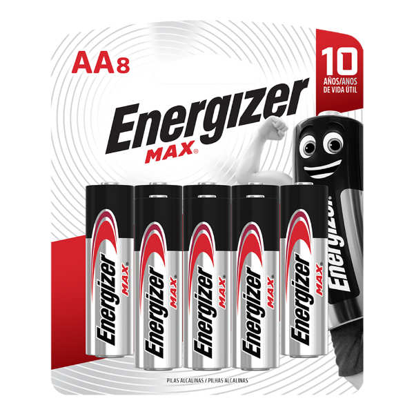 blister energizer 8 pilas aa