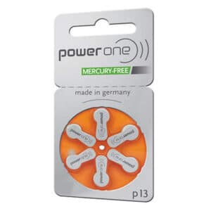 blister de 6 pilas auditivas power one naranja