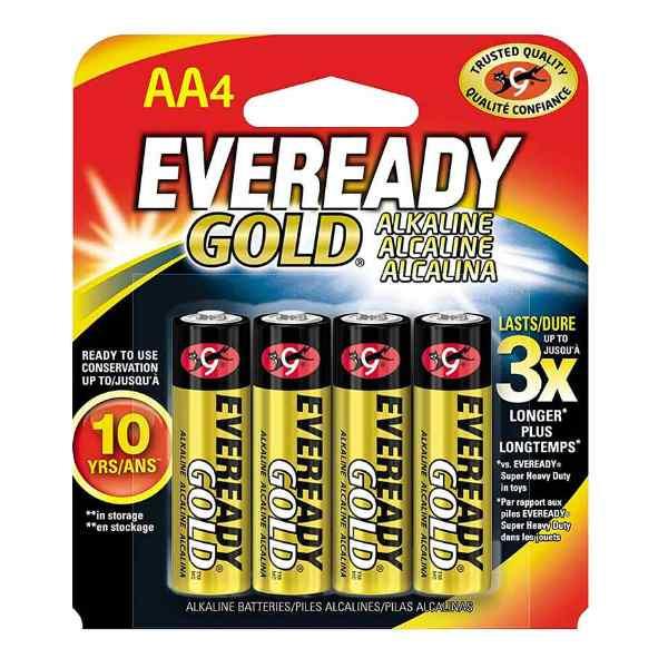 pilas eveready gold aa blister de 4 unidades