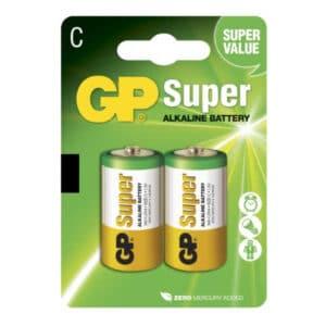blister de 2 unidades de pila c marca gp