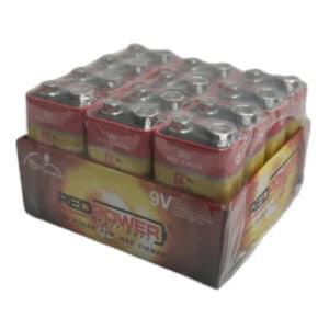 pilas 9v cabron zin paquete de 12 unidades