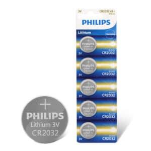Blíster de pilas Philips CR2032